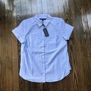 NWT Tommy Hilfiger Cap Sleeve Button Down